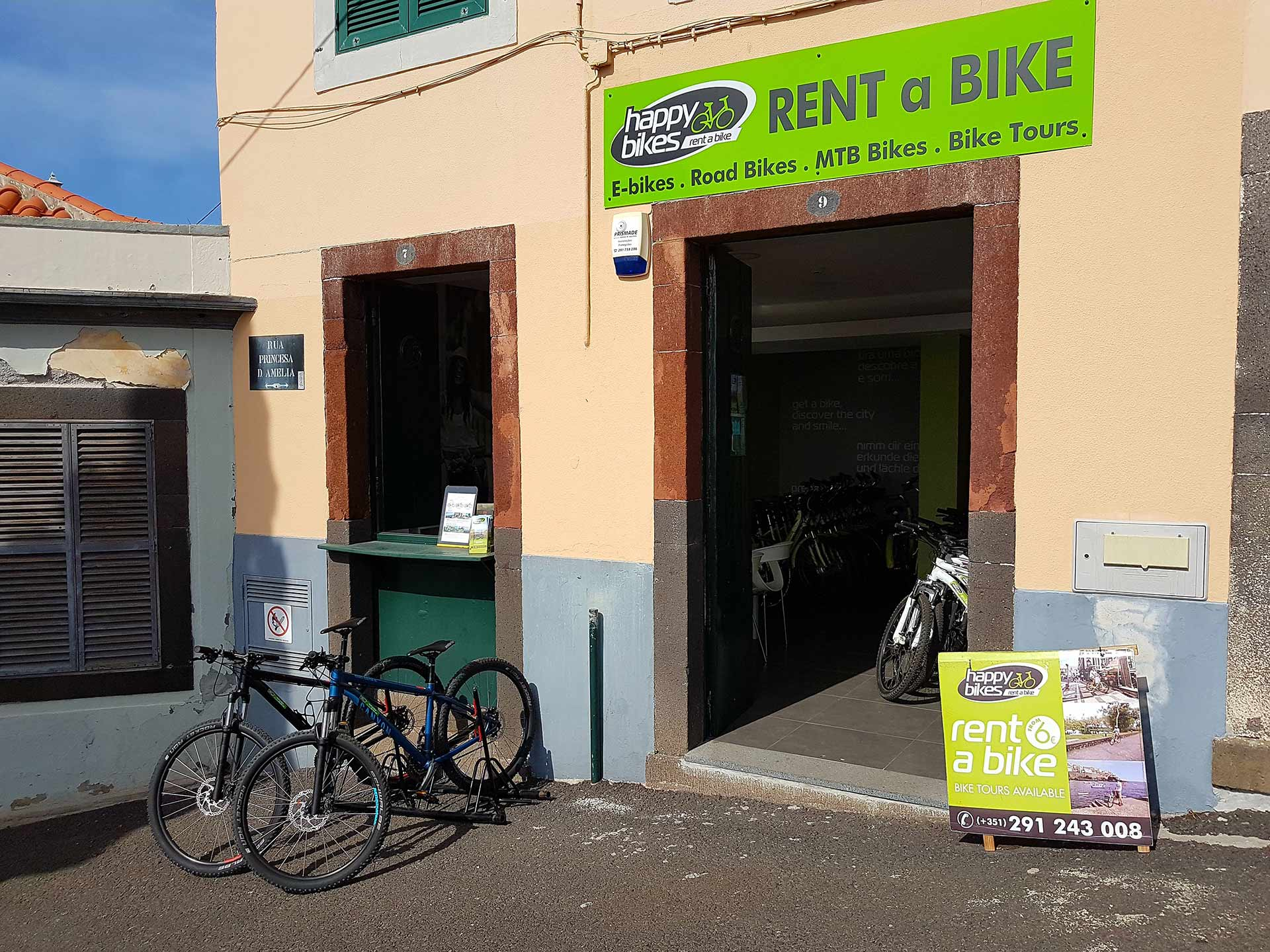 Rent a Bike online in Funchal city, Madeira island with HappyBikes